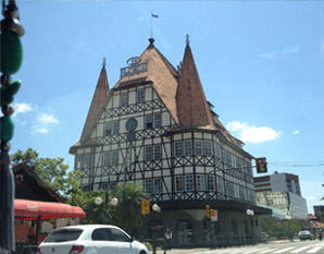 Buildings of Blumenau in the traditional bavarian style