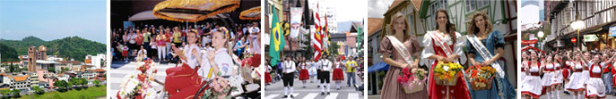 Blumenau | The Oktoberfest parade goes by | Oktoberfest Blumenau | Miss Oktoberfest- Blumenau | Blumenau Oktoberfest parade