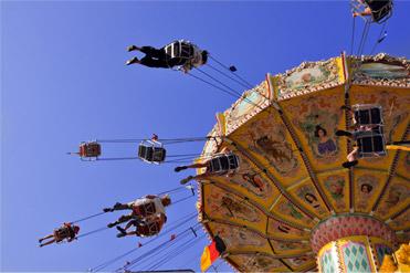 Enjoying the rides at Oktoberfest Germany