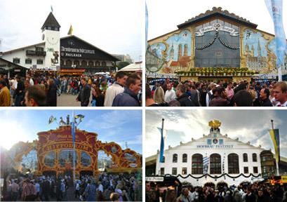 Four of the biggest Munich Oktoberfest tents