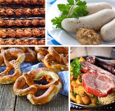 Traditional Oktoberfest fare