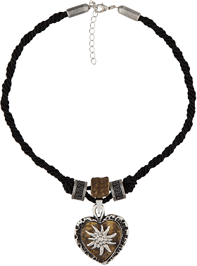 Traditional necklace uni with heart horn imitation 12189-8598