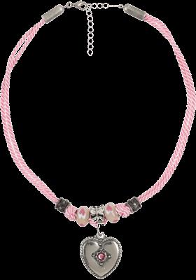 Halskette mit Perlen und Herzanhänger