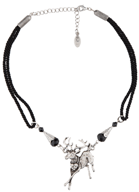 Traditional necklace with deer 12719-1136