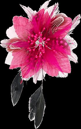 Anstecker Blüte mit Haarclip und Anstecknadel, pink