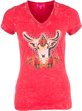 Traditional T-Shirt Estrel red