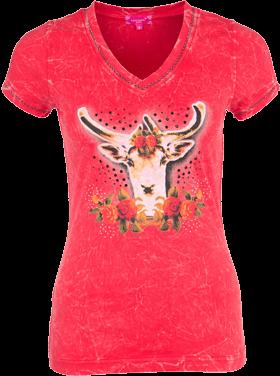 T-Shirt Gams Pailletten rot