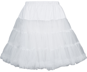 German traditional petticoat 50cm 450 white