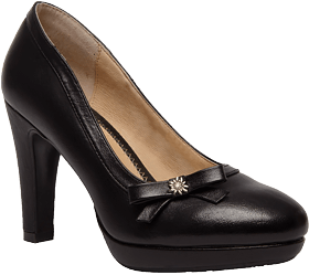 Traditional dirndl shoes nappa 6070 black