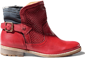 Traditional bootee 7010 red
