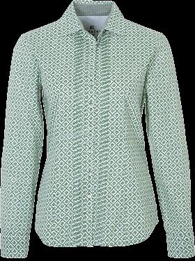 Trachtenbluse Webjaquard grün