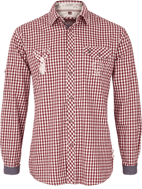 Trachtenhemd bordeaux
