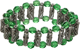 Bracelet with pearls AB12992 green