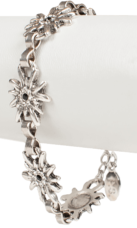 Bracelet AB9197-5 with edelweiss, crystal
