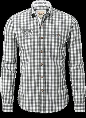 Trachtenhemd bestickt grau
