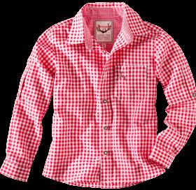 Kindertrachtenhemd karo rot