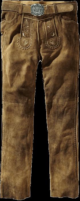 Trachtenlederhose lang incl. Gürtel havanna