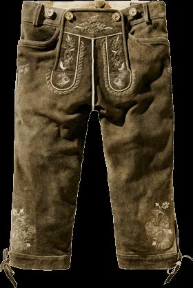 Trachten Lederhose H-Träger bison antik
