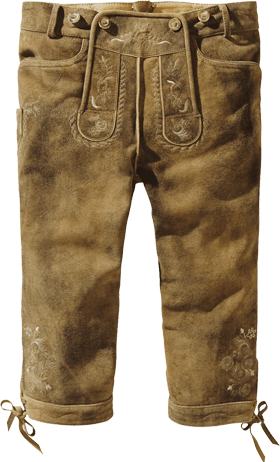 Trachten Lederhose H-Träger havanna antik