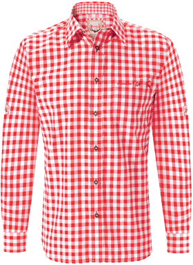 German traditional shirt Mitchel red