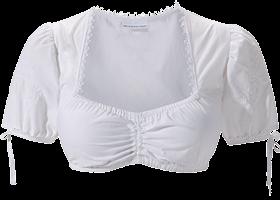 Traditional dirndl blouse B3065 white