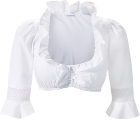 Traditional dirndl blouse B7071 white
