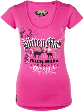 T-Shirt Hütten Madl pink
