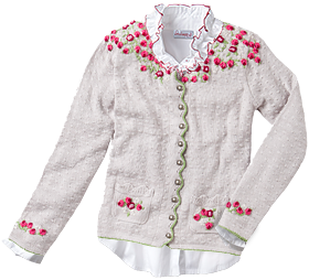 Traditional Cardigan HILDA beige