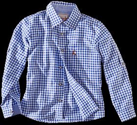 Kindertrachtenhemd karo blau