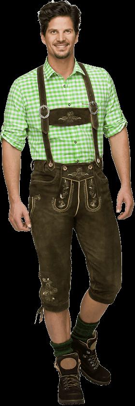 Pantalone Trachten in pelle Justin3 bison