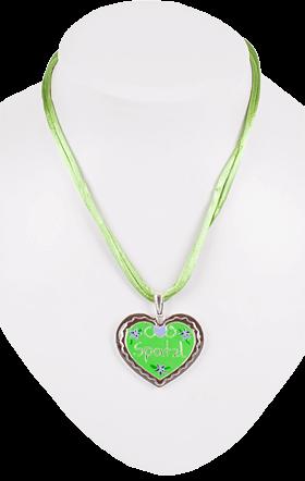 Collana K175 Cuore, verde