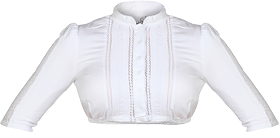 Traditional dirndl blouse MADLEN white