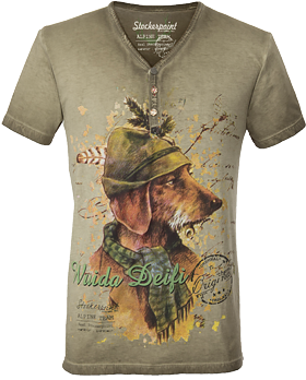 Trachten T-Shirt sand