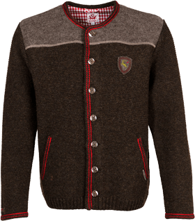 Traditional german cardigan Ramstein SJ brownred
