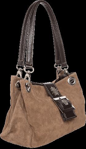 verspielte Trachtentasche Leder, hellbraun