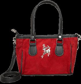 Kleine Trachtentasche Veloursleder, rot