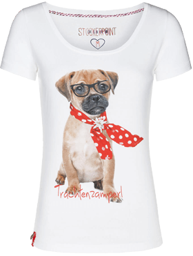 Funshirt Rock the dog weiss