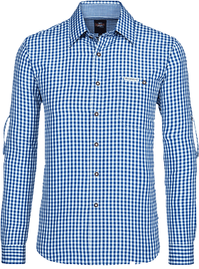 German traditional shirt checkered Campos2 blue