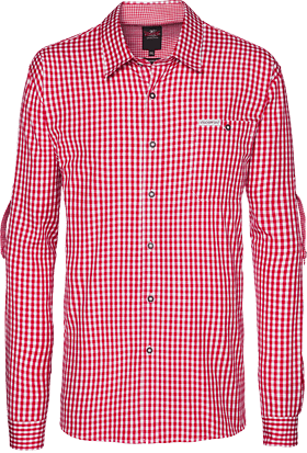 German traditional shirt checkered Campos2 red