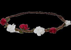 Haarstecker Blüten rotweiss