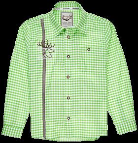 Trachtenhemd Kinder Vichykaro apfel-weiss