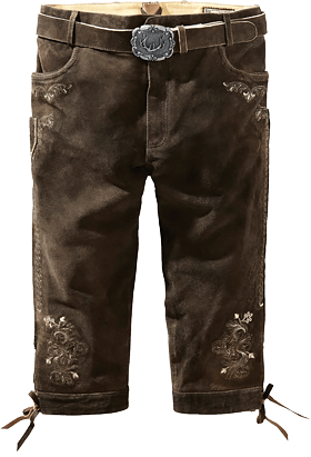 Leather trousers knee length with belt Sigmar3 bison