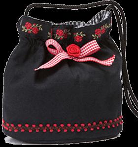 Traditional dirndl bag T130 black