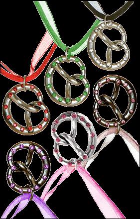Halskette Satinband Brezel