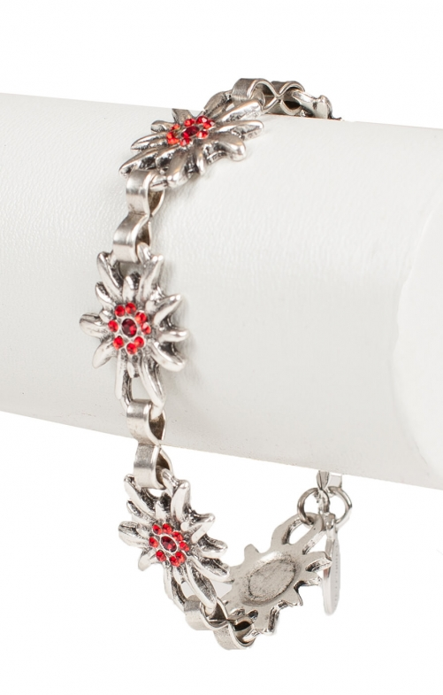 Armkette EDW mit Steine rot