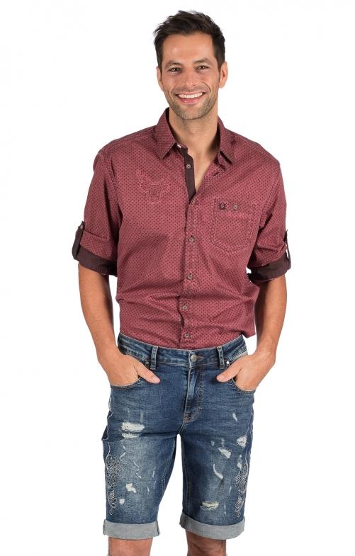 Trachten Jeans Short OSMAN jeansblau
