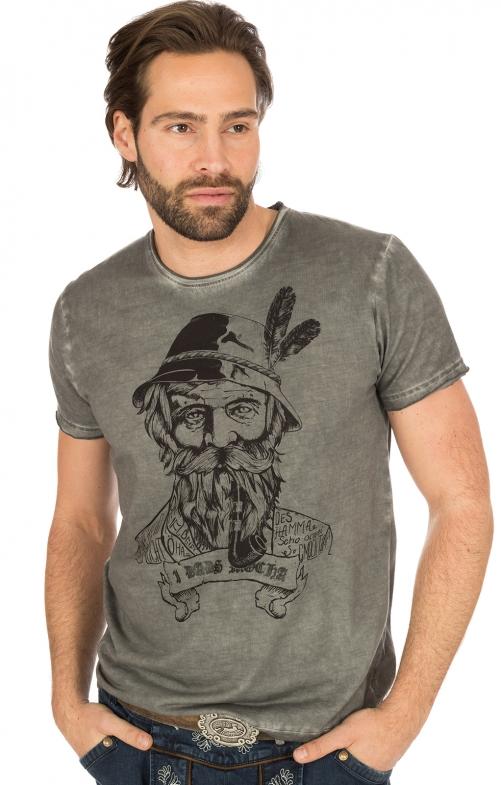 Trachten T-Shirt anthrazit