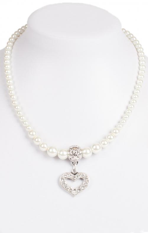 Perlenkette 14007 mit Herzanhänger