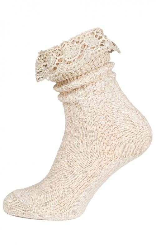 Socke C530 mit Spitze natur