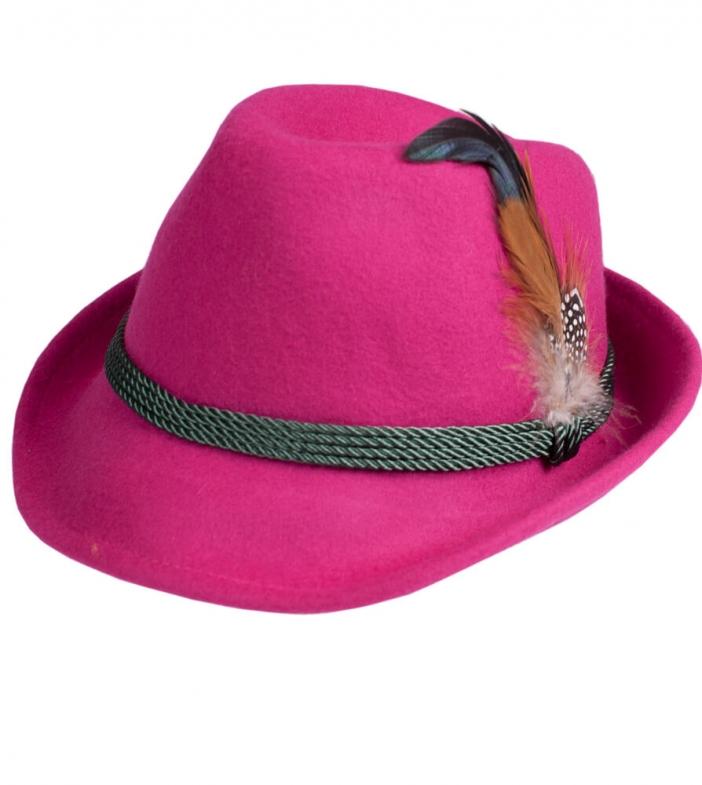 Trachtenhut HT750 pink mit Feder